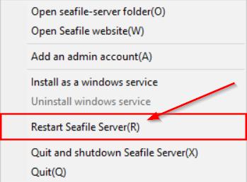 Перезагрузка сервера