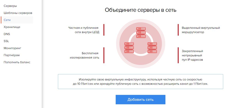 Панель управления-Сети