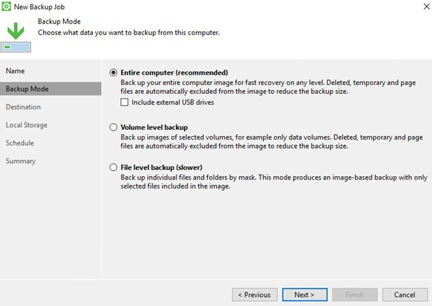 Как создать резервную копию сервера Windows с помощью Veeam Backup Agent